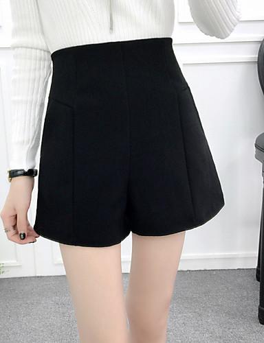 בגדי ריקוד נשים כותנה שורטים מכנסיים - גיזרה גבוהה אחיד