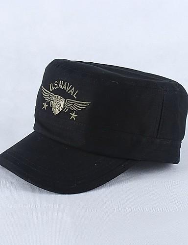 כובע צבע כובע שמש כובע בייסבול - אחיד צבע הסוואה כותנה מסוגנן עבודה בגדי ריקוד גברים