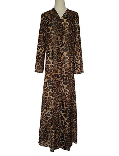 halpa Etniset & Cultural Puvut-Arabian mekko Abaya Kaftan mekko Naisten Muoti Festivaali / loma Polyesteria Sateenkaari Karnevaalipuvut Tulostus