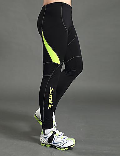 cheap Cycling Clothing-SANTIC Men's Cycling Tights Bike Leggings Pants Bottoms Windproof Sports Solid Color Elastane Winter Black Mountain Bike MTB Road Bike Cycling Clothing Apparel Advanced Semi-Form Fit Bike Wear