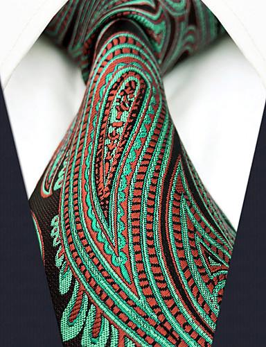 עניבת צווארון - קולור בלוק / פייסלי / סרוג עבודה / בסיסי בגדי ריקוד גברים