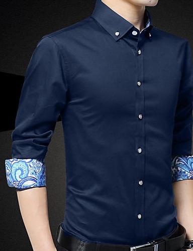 דפוס כותנה, חולצה - בגדי ריקוד גברים