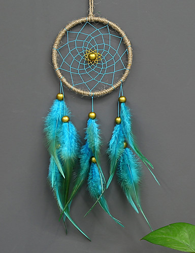 cheap Festival-Handmade Feather Beaded Dream Catcher Indians Traditional Art Wall Hanging Home Decoration