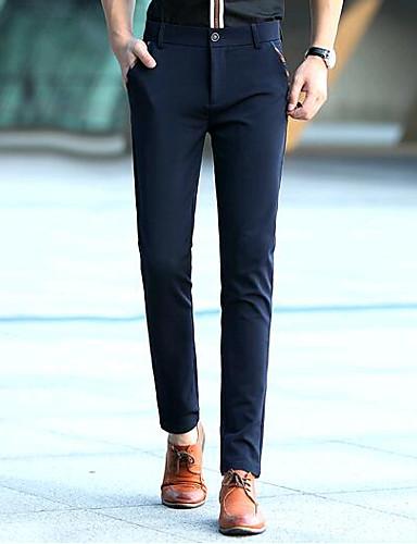 בגדי ריקוד גברים כותנה צ'ינו מכנסיים - אחיד שחור