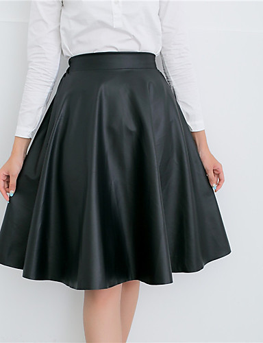 אחיד - חצאיות גזרת A פשוט בגדי ריקוד נשים