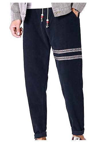 בגדי ריקוד גברים כותנה צ'ינו מכנסיים אחיד
