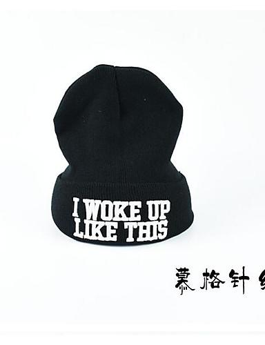 כובע צמר - אחיד בסיסי בסיסי בגדי ריקוד גברים / בד / כל העונות