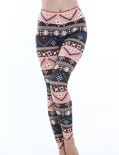 צועד - גיאומטרי, דפוס הדפס מותניים גבוהים בגדי ריקוד נשים