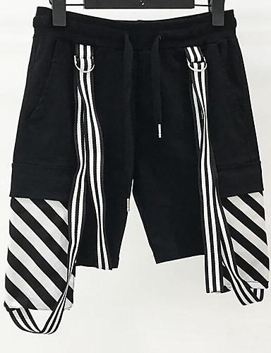 בגדי ריקוד גברים סגנון רחוב שורטים מכנסיים פסים
