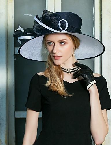 abordables Chapeau & coiffure-Lin Kentucky Derby Hat / Fascinators / Chapeaux avec Noeud(s) 1pc Mariage / Fête / Soirée Casque