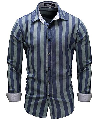 פסים סגנון רחוב חולצה - בגדי ריקוד גברים דפוס