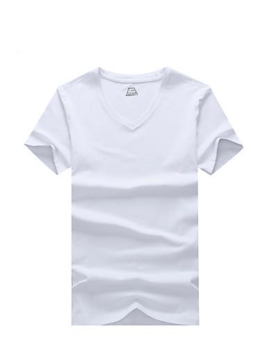 T-shirt Męskie Moda miejska Jendolity kolor