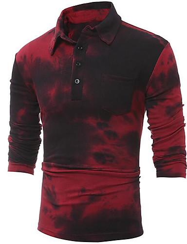 100% Vero Polo Per Uomo Essenziale Monocolore Colletto Vino L - Manica Lunga - Taglia Piccola #06577636