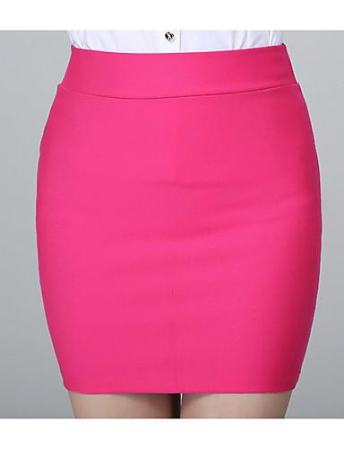 Damskie Podstawowy Bodycon Spódnice - Praca Solidne kolory