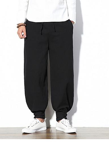 מכנסיים אחיד מכנסי טרנינג צ'ינו סגנון סיני בגדי ריקוד גברים