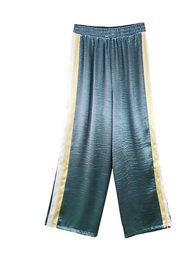 Damskie Aktywny Bawełna Luźna Spodnie szerokie nogawki / Typu Chino Spodnie Kolorowy blok Wysoka talia / Święto