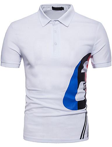 Polo Męskie Aktywny Bawełna Kołnierzyk koszuli Geometric Shape / Krótki rękaw