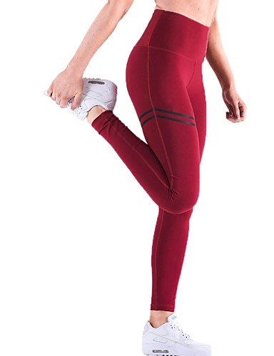 82836d3d23619 Women's Butt Lift Yoga Pants Sports Stripes Cotton High Rise Pants /  Trousers Bottoms Zumba Exercise & Fitness Running Activewear Fast Dry Push  Up Tummy ...