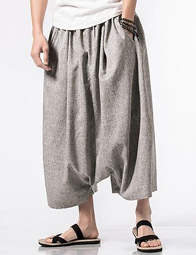 מכנסיים אחיד מכנסי טרנינג סגנון סיני בגדי ריקוד גברים