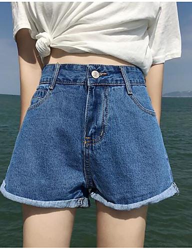 בגדי ריקוד נשים וינטאג' כותנה שורטים מכנסיים אחיד / אביב