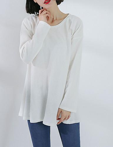 T-shirt Damskie Nadruk Bawełna Solidne kolory Rękaw motylek