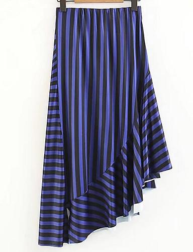פסים - חצאיות גזרת A פשוט בגדי ריקוד נשים