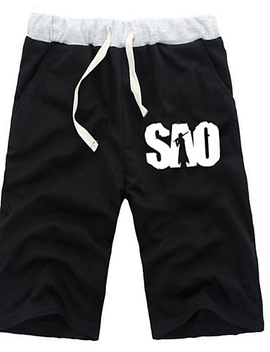 8ad7a6cbb375 Inspired by Alicization SAO Kirito Anime Cosplay Costumes Cosplay Tops /  Bottoms Solid Colored / Anime Mid Length Pant Shorts For All