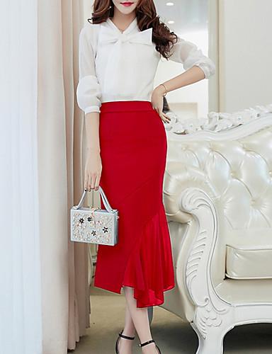 Damskie Aktywny Asymetryczna Syrena Spódnice Solidne kolory