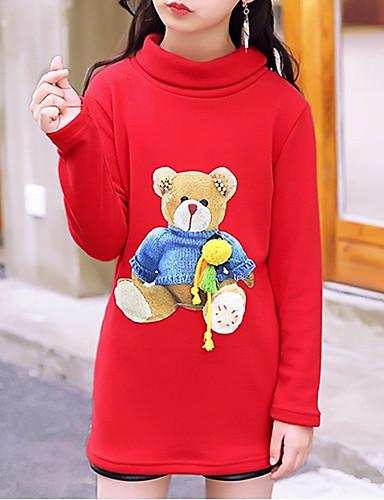 Dzieci Dla dziewczynek Kreskówki Nadruk Długi rękaw Bawełna Bluzka