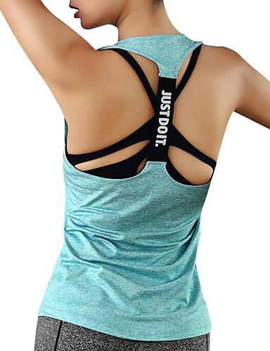 preiswerte Visors Kleidung-Damen Rückenfrei Funktions-Unterhemden Sport Elastan Oberteile Yoga Fitness Fitnesstraining Sportkleidung Rasche Trocknung Atmungsaktivität Schweißableitend Dehnbar