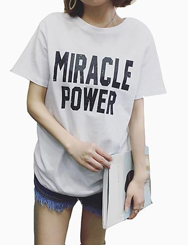 T-shirt Damskie Podstawowy Litera