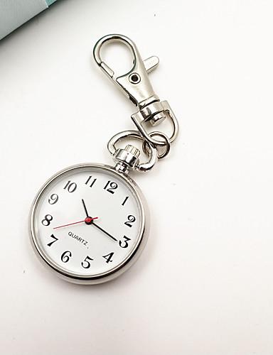 voordelige Trendy Horloge-Dames Sleutelhanger Horloge Pocket Scale Nurse Watch Kwarts Zilver Vrijetijdshorloge Analoog Dames Vintage Modieus minimalistische - Zilver Een jaar Levensduur Batterij / Tianqiu 377