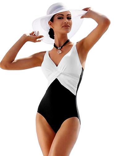 baratos Roupas de Mergulho & Camisas de Proteção-Mulheres roupa de banho Tosão Body Respirável Secagem Rápida Natação Surfe Esportes Aquáticos Retalhos Verão / Elasticidade Alta