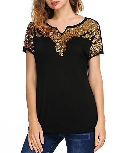 T-shirt Damskie Podstawowy, Nadruk Geometryczny