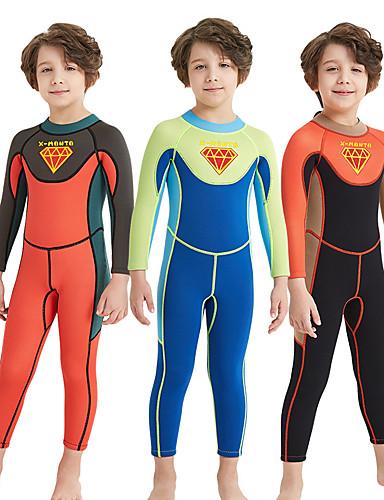 Dla chłopców Skafander długi 2mm Neopren SCR Kombinezony nurkowe Szybkie wysychanie, Odporny na UV, Wysoka elastyczność Długi rękaw Zamek błyskawiczny na plecach Patchwork / Elastyczny