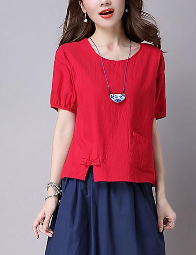 T-shirt Damskie Vintage Jendolity kolor
