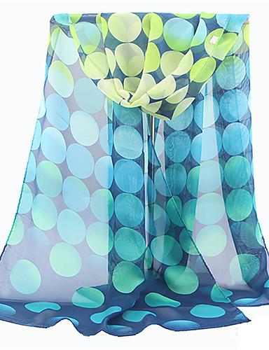 Χαμηλού Κόστους Women's Scarves-Γυναικεία Πουά Πολυεστέρας Δίχτυ - Ορθογώνιο / Χαριτωμένο