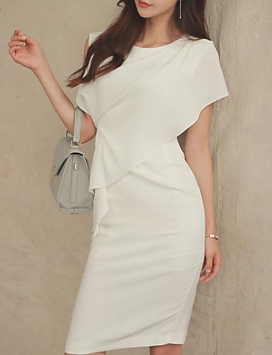 Damskie Bawełna Spodnie - Solidne kolory Biały