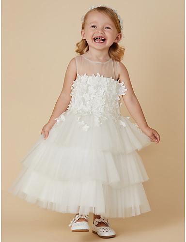 230b26aa82 play video. cheap Flower Girl Dresses-Princess Ankle Length Flower Girl  Dress - Lace / Satin /