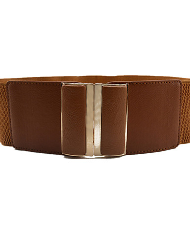 cheap Women's Accessories-Women's Active / Basic Alloy Wide Belt - Solid Colored