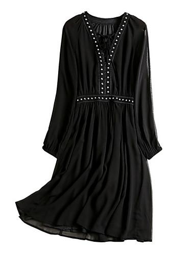 Damskie Moda miejska Little Black Sukienka - Jendolity kolor Przed kolano