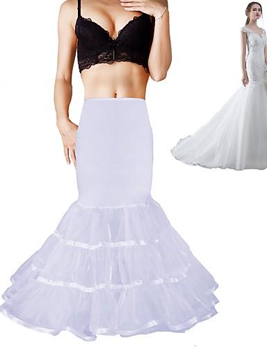 ieftine Jupon de Nuntă-Nuntă Seară Formală Cămăși de noapte Poliester Spandex Chinlon Organza Tafta Tulle Lungime până la podea Lungime până la gambe Slipi