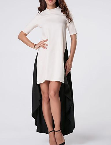 17247d363739 Γυναικεία Αργίες Βασικό   Κομψό στυλ street Λεπτό T Shirt Φόρεμα - Μονόχρωμο    Συνδυασμός Χρωμάτων