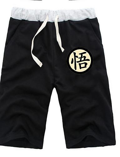 povoljno Anime kostimi-Inspirirana Dragon Ball Son Goku Anime Cosplay nošnje Japanski Cosplay Tops / Bottoms Jednobojni / Anime ½ Pant Kratke hlače Za Sve