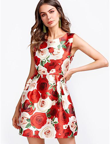 Pentru femei Teacă Rochie Floral Mini