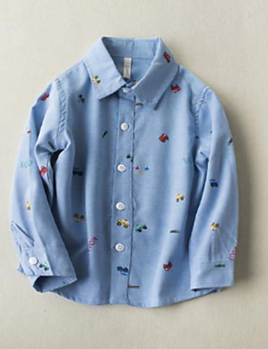 Dzieci Dla chłopców Nadruk Długi rękaw Koszula