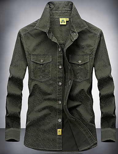 Camisa de caza Hombre Diseño Anatómico   Transpirabilidad   Listo para  vestir Un Color Algodón Camisas Manga Larga para Camping y senderismo   Caza    ... 16081574160