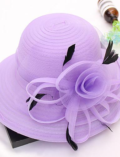ffced9d6 Women's Kentucky Derby Cute Mesh Sun Hat-Print Lace All Seasons Khaki Royal  Blue Lavender / Fabric