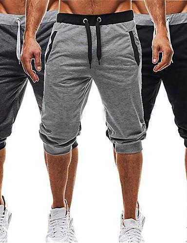 ราคาถูก เสื้อ, กางเกงขายาวและกางกางขาสั้นสำหรับใส่วิ่ง-สำหรับผู้ชาย ฮาเร็ม useless กีฬา ฝ้าย กางเกงขาสั้นถุง ชุดลำลอง การออกกำลังกาย ยิมออกกำลังกาย ชุดทำงาน Lightweight ระบายอากาศได้ ผสมยางยืดไมโคร
