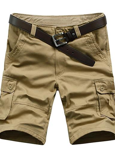 Bărbați De Bază Mărime Plus Size Bumbac Larg / Supradimensionat Pantaloni Chinos Pantaloni Mată